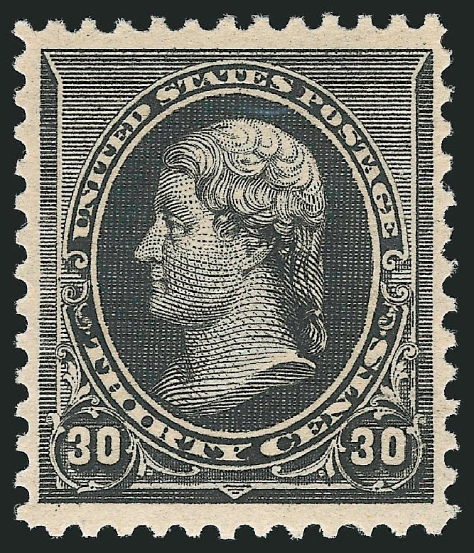 US Stamps Price Scott Catalogue 228 - 30c 1890 Jefferson. Robert Siegel Auction Galleries, Apr 2015, Sale 1096, Lot 392