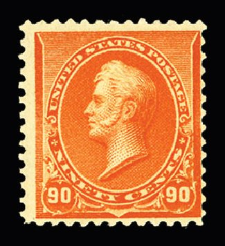 US Stamps Price Scott # 229 - 90c 1890 Perry. Cherrystone Auctions, Jul 2015, Sale 201507, Lot 2079