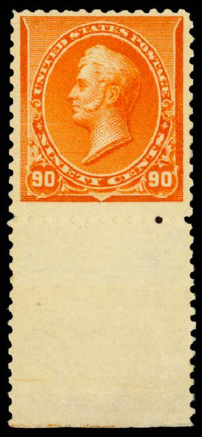 US Stamp Price Scott Catalogue # 229: 90c 1890 Perry. Daniel Kelleher Auctions, Aug 2015, Sale 672, Lot 2470