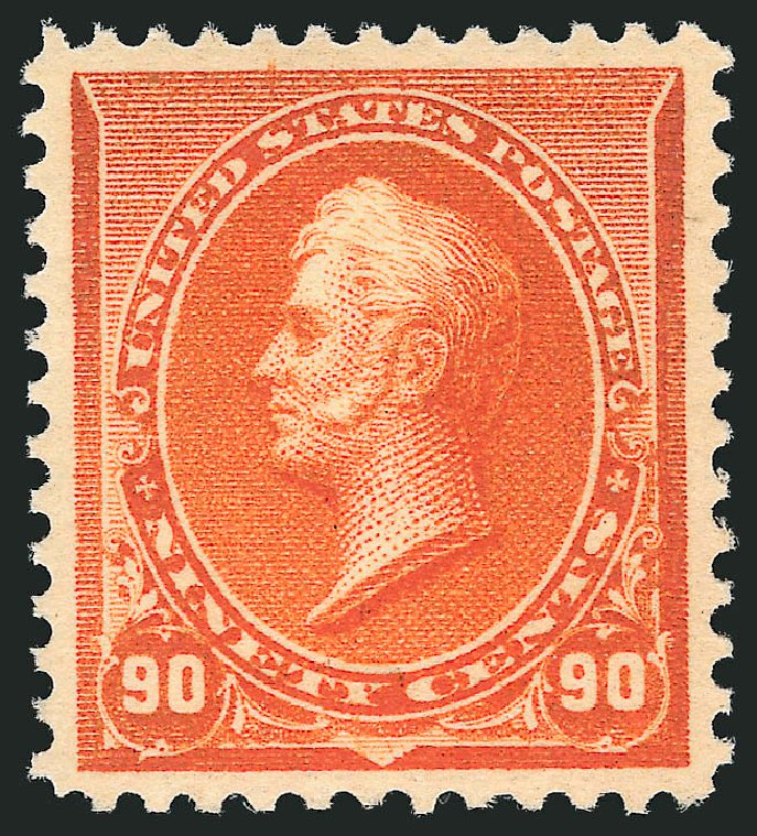 Values of US Stamp Scott #229 - 90c 1890 Perry. Robert Siegel Auction Galleries, Apr 2015, Sale 1096, Lot 395