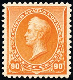 US Stamps Value Scott #229 - 90c 1890 Perry. Schuyler J. Rumsey Philatelic Auctions, Apr 2015, Sale 60, Lot 2206