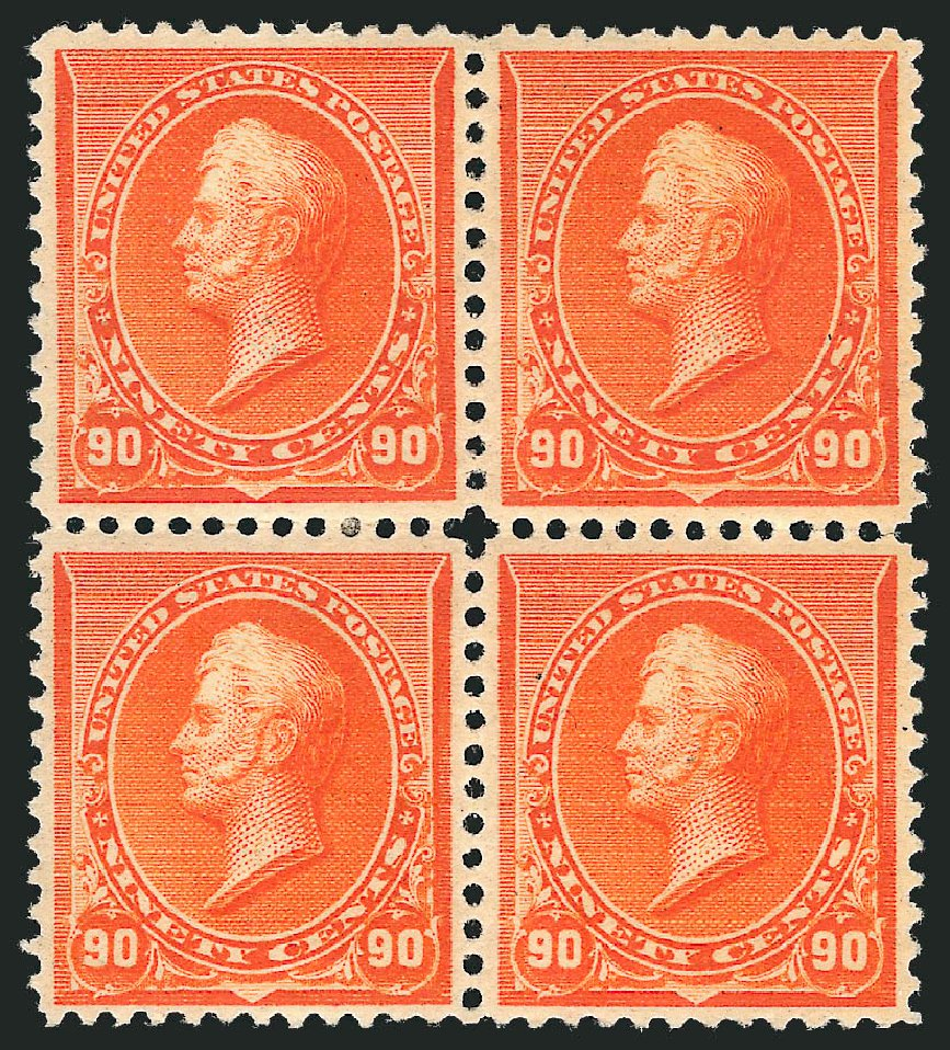 US Stamps Price Scott # 229: 1890 90c Perry. Robert Siegel Auction Galleries, Apr 2015, Sale 1096, Lot 396