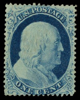 Price of US Stamps Scott Catalog 23 - 1857 1c Franklin. Daniel Kelleher Auctions, May 2015, Sale 669, Lot 2432