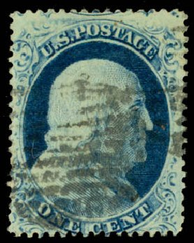 US Stamps Value Scott Catalogue 23 - 1c 1857 Franklin. Daniel Kelleher Auctions, Aug 2015, Sale 672, Lot 2183