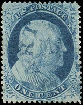 Prices of US Stamps Scott 23 - 1857 1c Franklin. Regency-Superior, Aug 2015, Sale 112, Lot 103