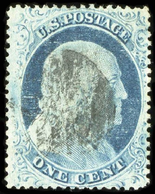 Values of US Stamps Scott 23 - 1857 1c Franklin. Spink Shreves Galleries, Jul 2015, Sale 151, Lot 43
