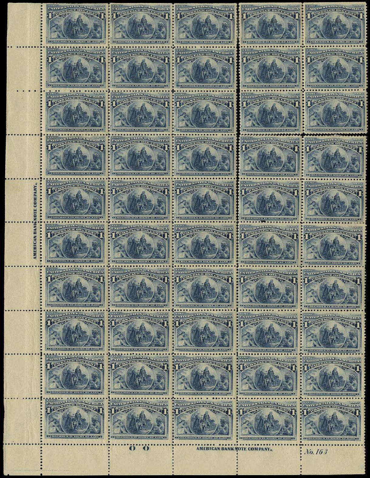 US Stamp Value Scott Catalog # 230 - 1c 1893 Columbian Exposition. Regency-Superior, Aug 2015, Sale 112, Lot 1477