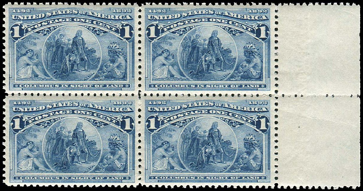 US Stamp Prices Scott Catalogue 230: 1893 1c Columbian Exposition. Regency-Superior, Jan 2015, Sale 109, Lot 889