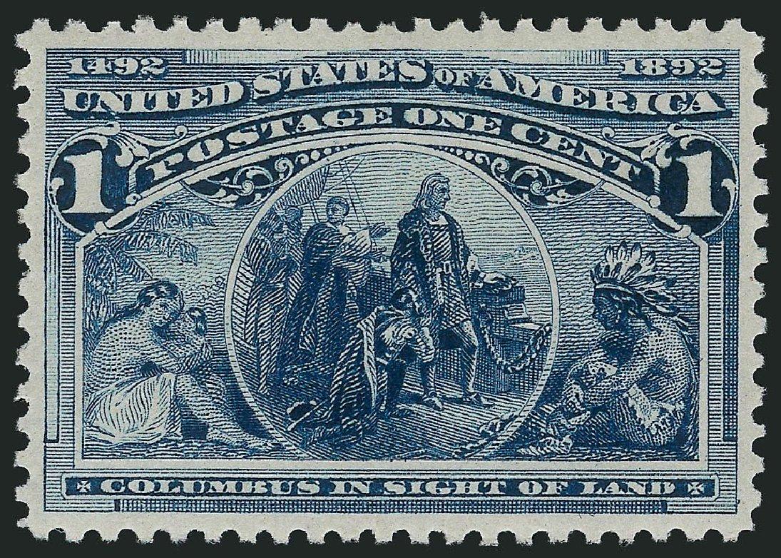 US Stamps Prices Scott 230 - 1893 1c Columbian Exposition. Robert Siegel Auction Galleries, Sep 2014, Sale 1078, Lot 339