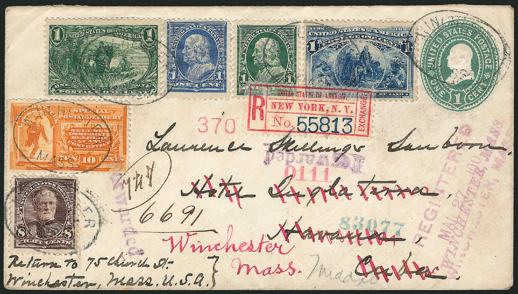 Cost of US Stamps Scott Catalogue #230: 1c 1893 Columbian Exposition. Robert Siegel Auction Galleries, Jun 2015, Sale 1105, Lot 2629