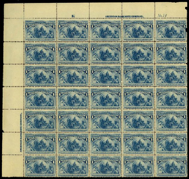 US Stamp Value Scott Cat. 230: 1c 1893 Columbian Exposition. Daniel Kelleher Auctions, Jan 2015, Sale 663, Lot 1450
