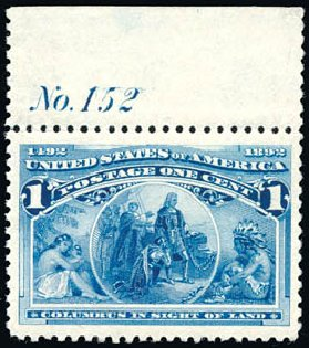 Prices of US Stamp Scott #230 - 1893 1c Columbian Exposition. Schuyler J. Rumsey Philatelic Auctions, Apr 2015, Sale 60, Lot 2731