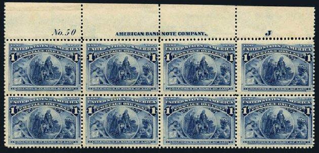 Cost of US Stamp Scott Catalogue # 230 - 1893 1c Columbian Exposition. Harmer-Schau Auction Galleries, Aug 2014, Sale 102, Lot 1824