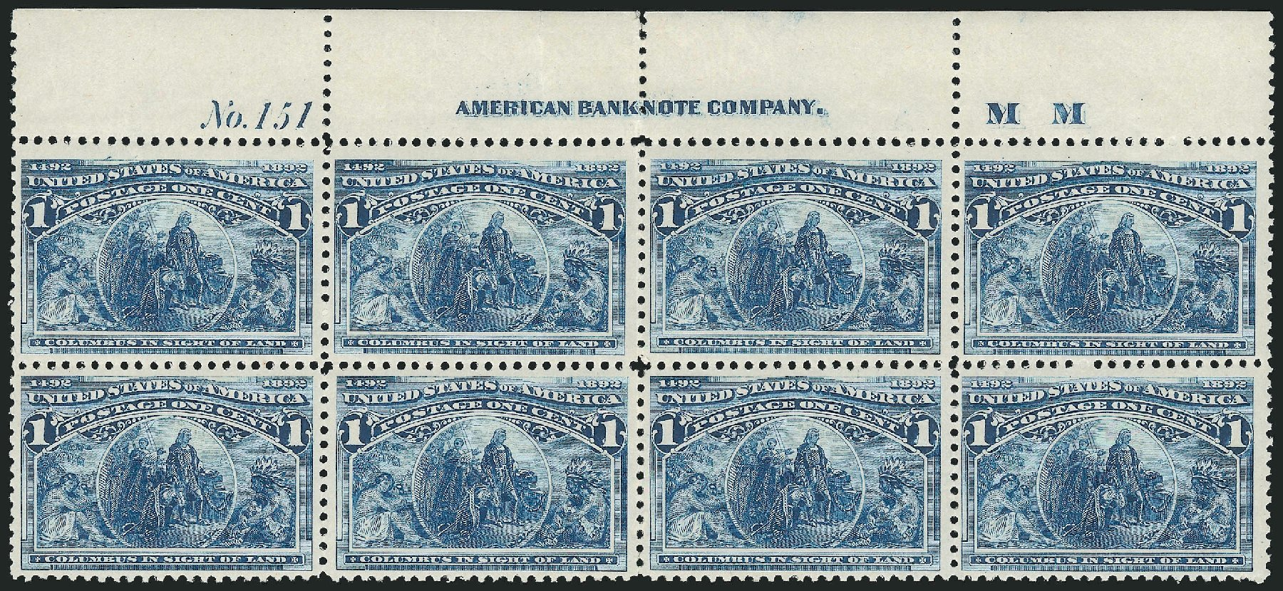US Stamps Prices Scott Catalog #230 - 1893 1c Columbian Exposition. Robert Siegel Auction Galleries, Nov 2014, Sale 1084, Lot 3524