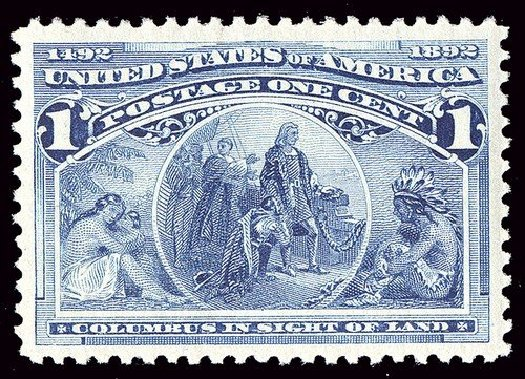 US Stamps Price Scott Catalogue 230: 1893 1c Columbian Exposition. Spink Shreves Galleries, Jan 2014, Sale 146, Lot 294
