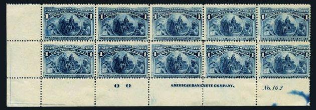 US Stamp Prices Scott #230: 1893 1c Columbian Exposition. Harmer-Schau Auction Galleries, Aug 2014, Sale 102, Lot 1825