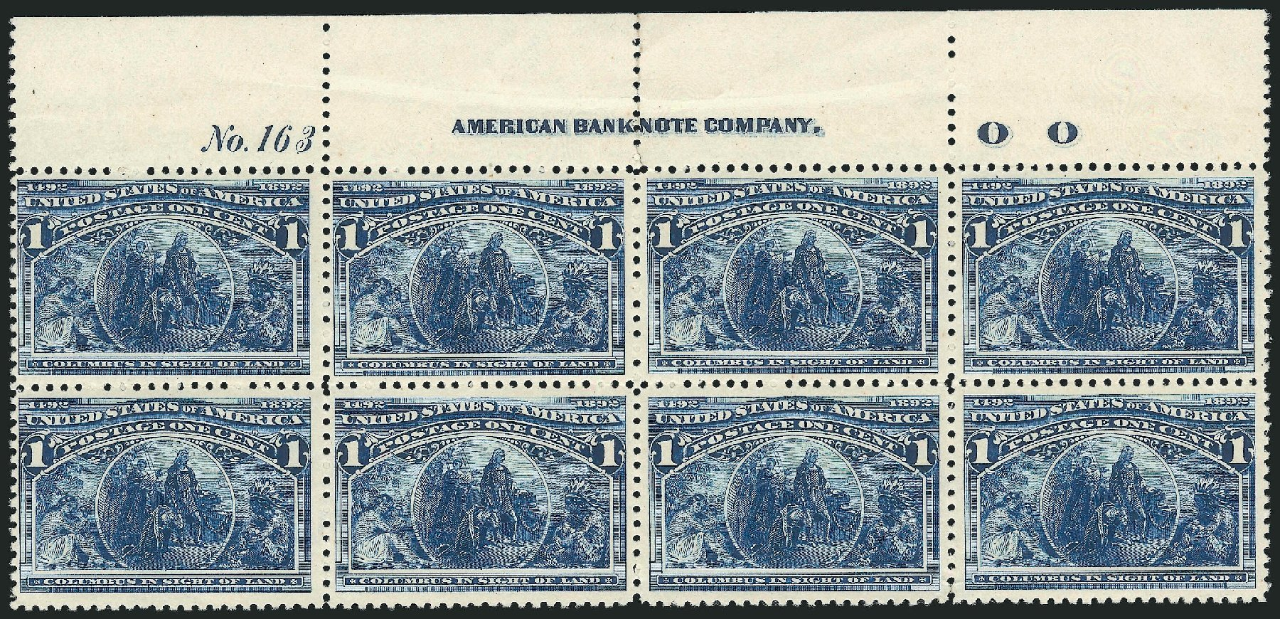 US Stamp Price Scott Catalogue 230 - 1893 1c Columbian Exposition. Robert Siegel Auction Galleries, Nov 2014, Sale 1084, Lot 3525