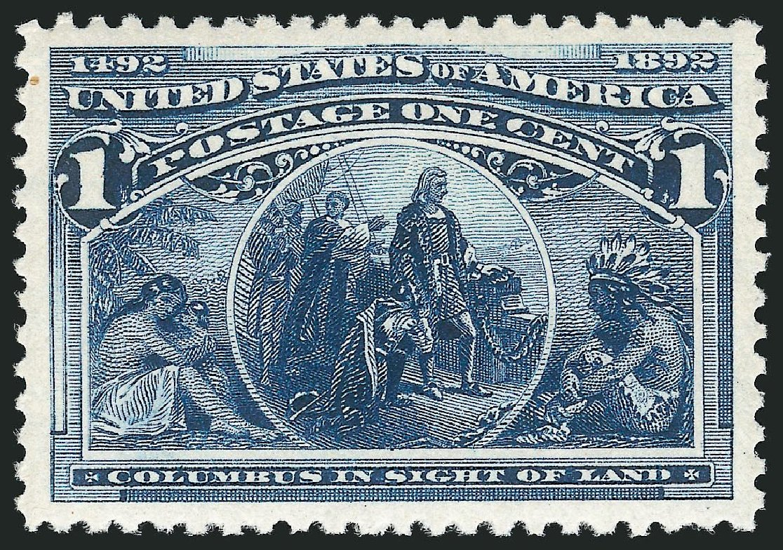 Cost of US Stamps Scott Cat. #230: 1893 1c Columbian Exposition. Robert Siegel Auction Galleries, Dec 2014, Sale 1090, Lot 1385