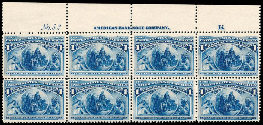 Prices of US Stamp Scott # 230: 1893 1c Columbian Exposition. Schuyler J. Rumsey Philatelic Auctions, Apr 2015, Sale 60, Lot 2872