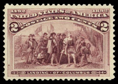 US Stamps Value Scott 231 - 1893 2c Columbian Exposition. Daniel Kelleher Auctions, Oct 2014, Sale 660, Lot 2208
