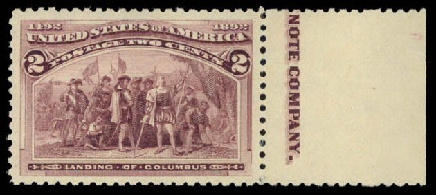 Price of US Stamp Scott Cat. 231: 1893 2c Columbian Exposition. Daniel Kelleher Auctions, May 2015, Sale 669, Lot 2719