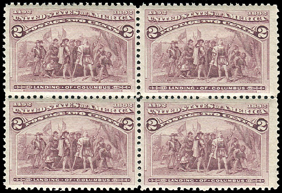 Prices of US Stamps Scott # 231 - 2c 1893 Columbian Exposition. Regency-Superior, Aug 2015, Sale 112, Lot 399
