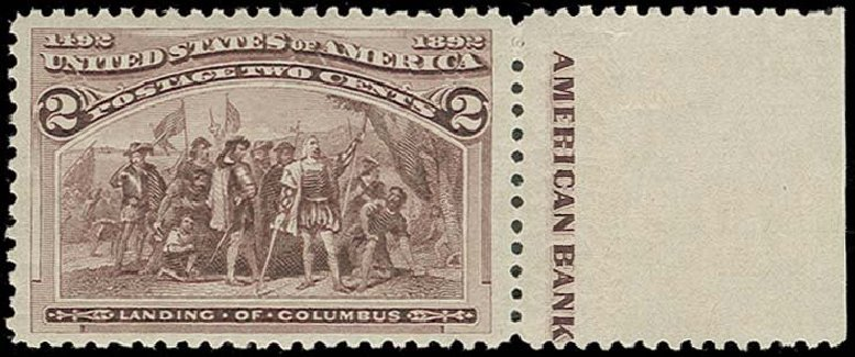 US Stamp Value Scott Catalogue # 231: 1893 2c Columbian Exposition. H.R. Harmer, Oct 2014, Sale 3006, Lot 1251