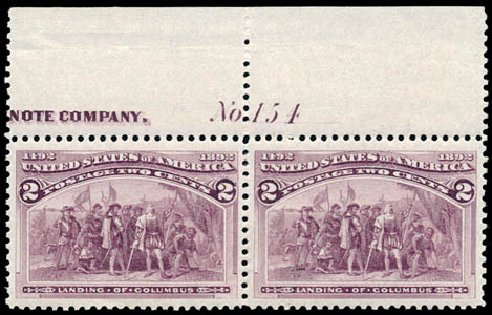 Costs of US Stamps Scott Catalog 231 - 1893 2c Columbian Exposition. Schuyler J. Rumsey Philatelic Auctions, Apr 2015, Sale 60, Lot 2732