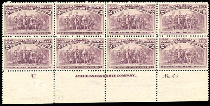 Costs of US Stamps Scott Catalogue # 231 - 1893 2c Columbian Exposition. Schuyler J. Rumsey Philatelic Auctions, Apr 2015, Sale 60, Lot 2873