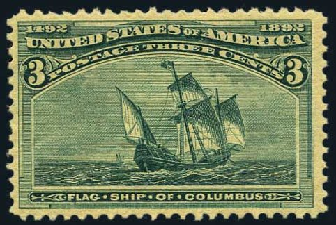 Costs of US Stamps Scott Catalogue # 232 - 3c 1893 Columbian Exposition. Harmer-Schau Auction Galleries, May 2015, Sale 105, Lot 129