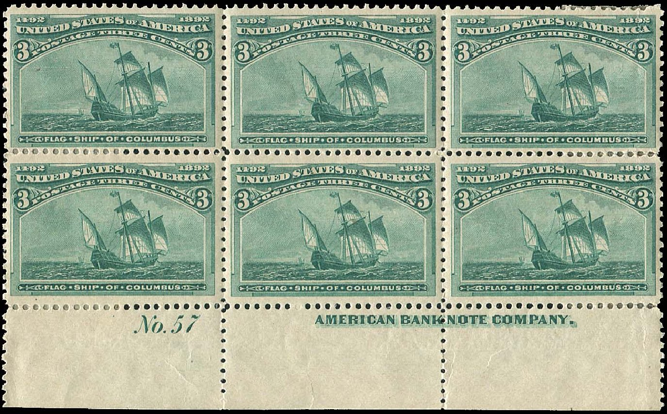 Cost of US Stamp Scott Catalog 232 - 3c 1893 Columbian Exposition. Regency-Superior, Aug 2015, Sale 112, Lot 1279