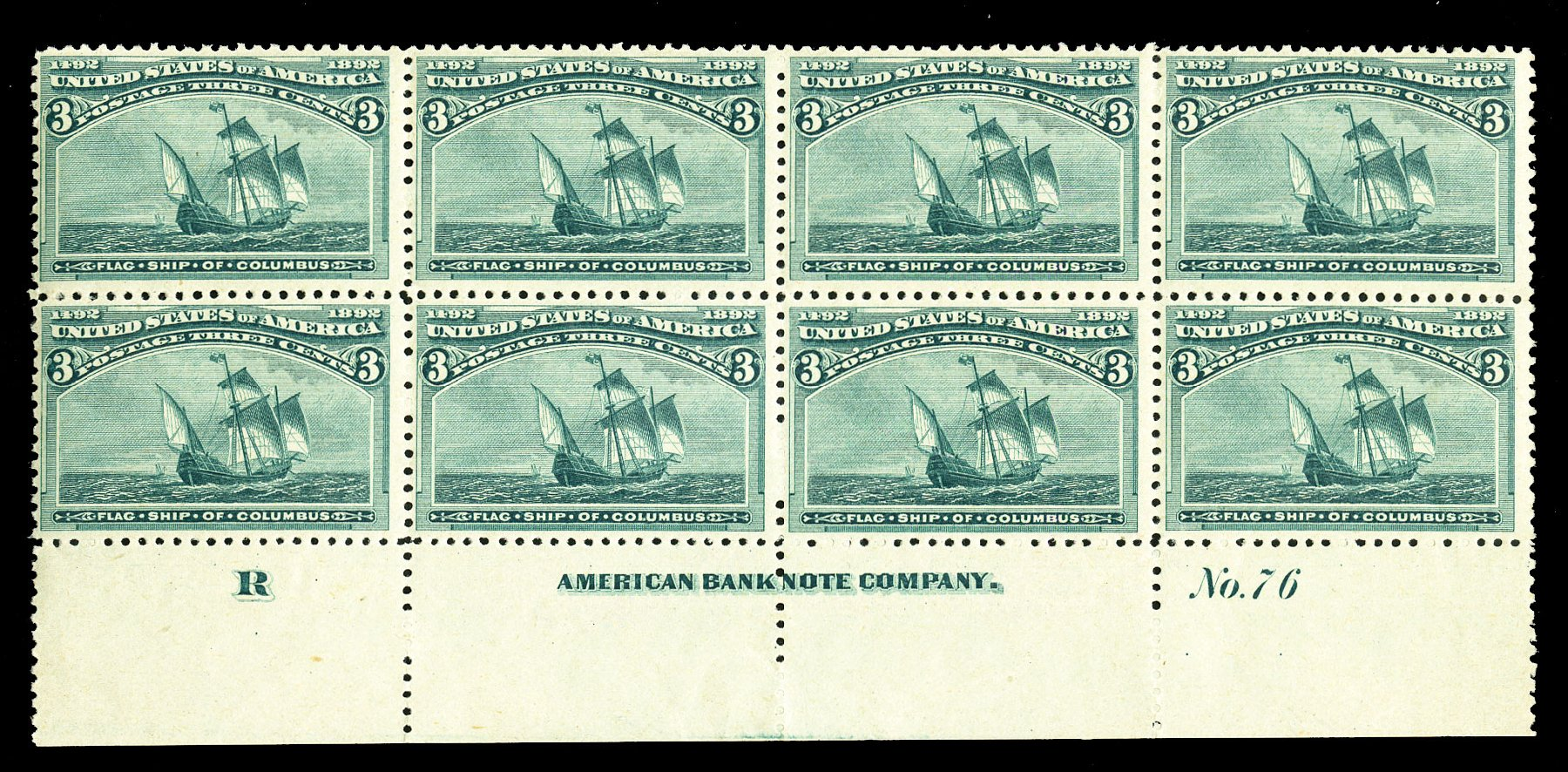 Value of US Stamp Scott Catalogue # 232: 1893 3c Columbian Exposition. Cherrystone Auctions, Jul 2015, Sale 201507, Lot 2081