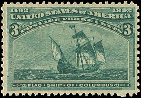 US Stamps Value Scott Cat. # 232 - 1893 3c Columbian Exposition. Regency-Superior, Aug 2015, Sale 112, Lot 401