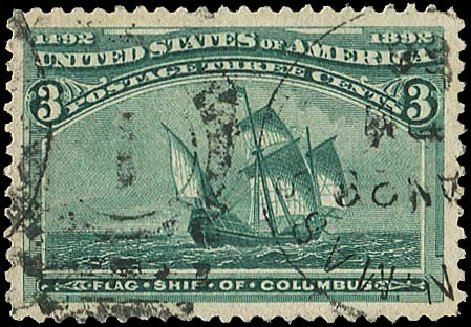 US Stamps Price Scott # 232: 1893 3c Columbian Exposition. Regency-Superior, Aug 2015, Sale 112, Lot 402