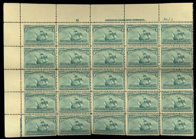US Stamps Prices Scott Cat. # 232: 3c 1893 Columbian Exposition. Daniel Kelleher Auctions, May 2015, Sale 669, Lot 2723
