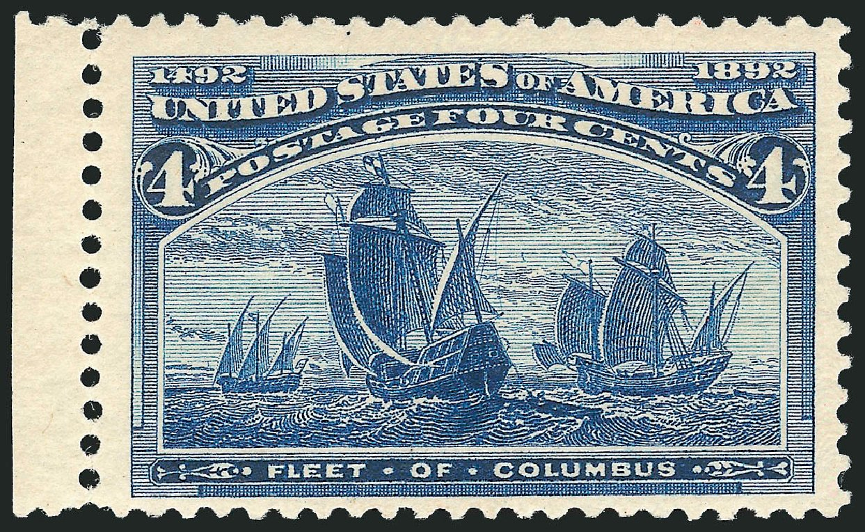 Values of US Stamp Scott Catalog #233: 1893 4c Columbian Exposition. Robert Siegel Auction Galleries, Apr 2015, Sale 1096, Lot 408