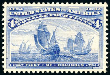 Value of US Stamp Scott 233: 1893 4c Columbian Exposition. Schuyler J. Rumsey Philatelic Auctions, Apr 2015, Sale 60, Lot 2209