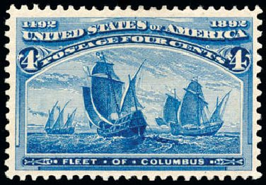 Price of US Stamps Scott #233 - 4c 1893 Columbian Exposition. Schuyler J. Rumsey Philatelic Auctions, Apr 2015, Sale 60, Lot 2210