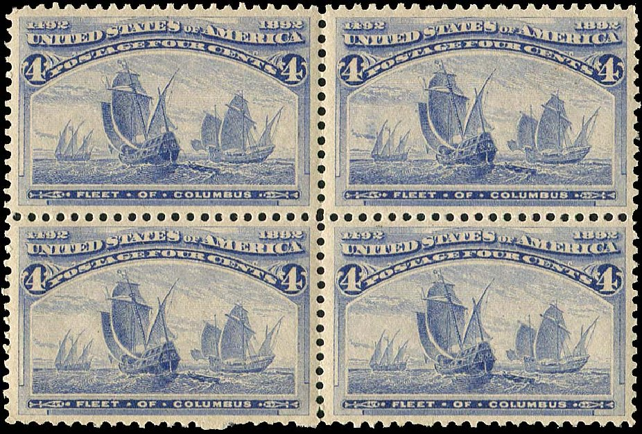 Price of US Stamp Scott Catalog # 233 - 4c 1893 Columbian Exposition. Regency-Superior, Aug 2015, Sale 112, Lot 404