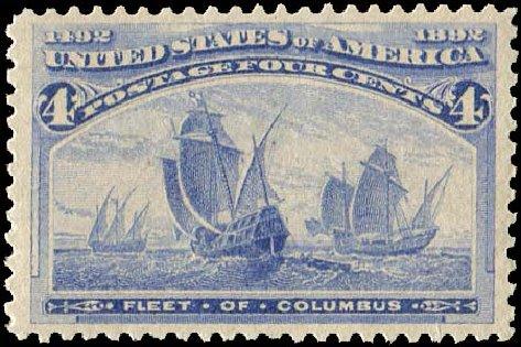 US Stamps Price Scott Catalog 233: 1893 4c Columbian Exposition. Regency-Superior, Aug 2015, Sale 112, Lot 405