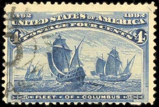 US Stamp Values Scott # 233 - 1893 4c Columbian Exposition. Spink Shreves Galleries, Jul 2015, Sale 151, Lot 182