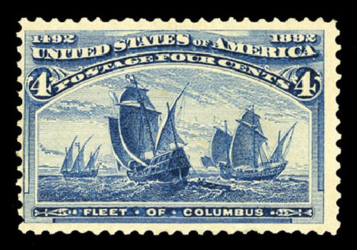 US Stamp Price Scott Cat. # 233: 1893 4c Columbian Exposition. Cherrystone Auctions, Jul 2015, Sale 201507, Lot 2083