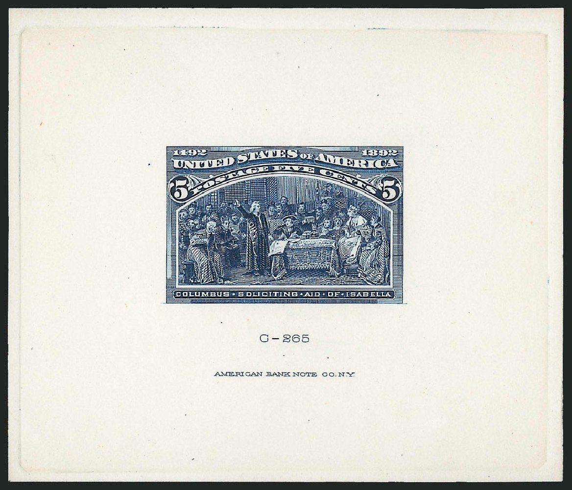 US Stamp Value Scott Cat. # 234: 1893 5c Columbian Exposition. Robert Siegel Auction Galleries, Dec 2014, Sale 1090, Lot 1037