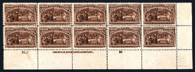 Prices of US Stamp Scott #234 - 1893 5c Columbian Exposition. Harmer-Schau Auction Galleries, Aug 2015, Sale 106, Lot 1628