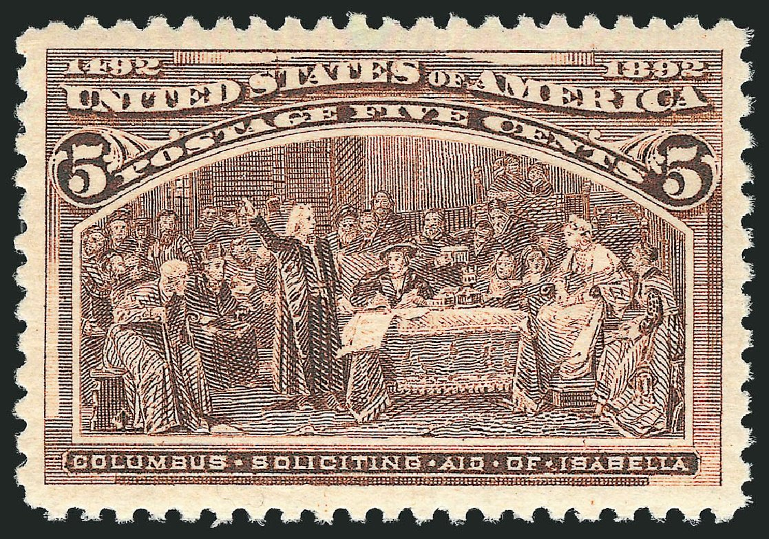 US Stamp Price Scott Catalogue #234 - 1893 5c Columbian Exposition. Robert Siegel Auction Galleries, Jul 2015, Sale 1107, Lot 309