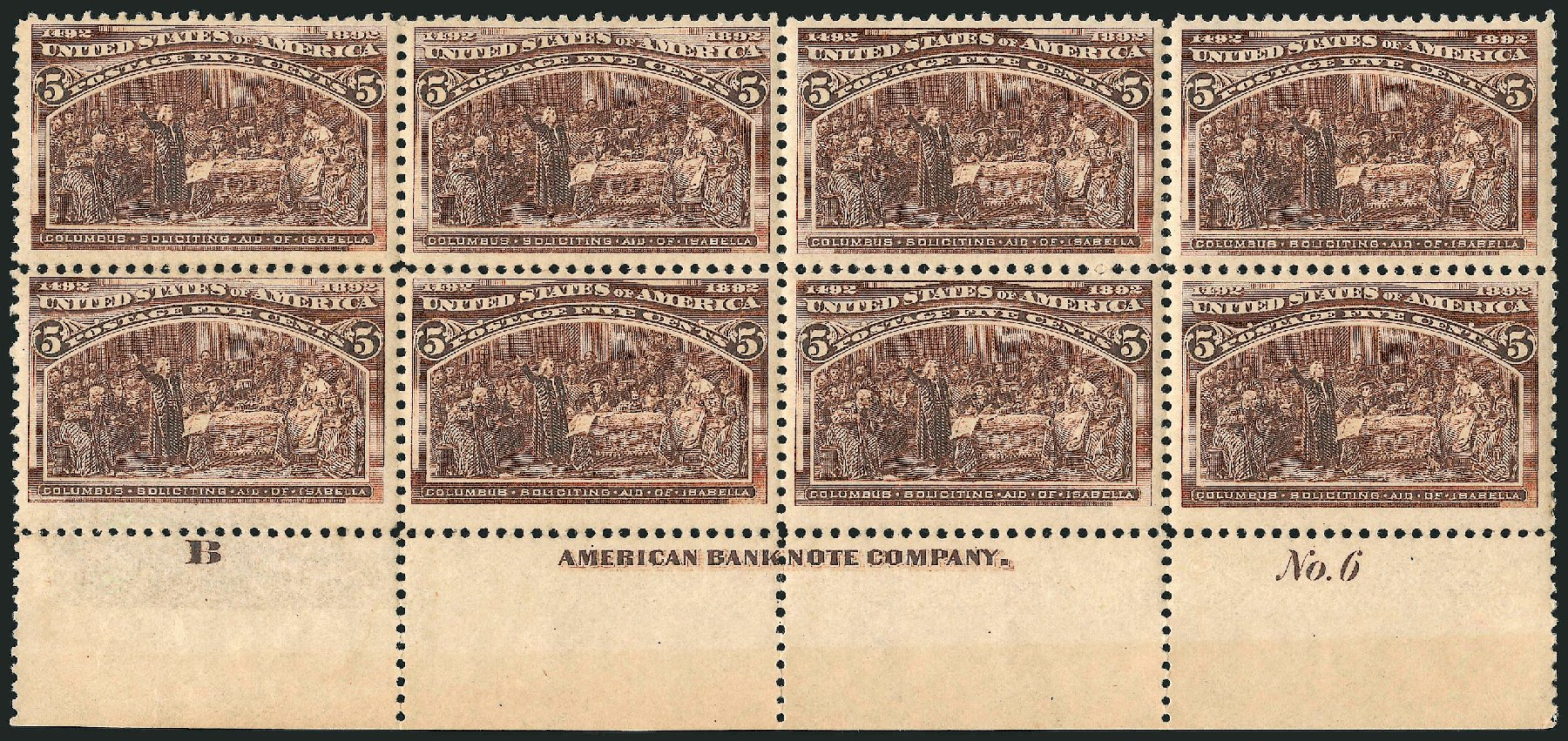 Prices of US Stamps Scott Cat. 234: 5c 1893 Columbian Exposition. Robert Siegel Auction Galleries, Apr 2015, Sale 1096, Lot 410