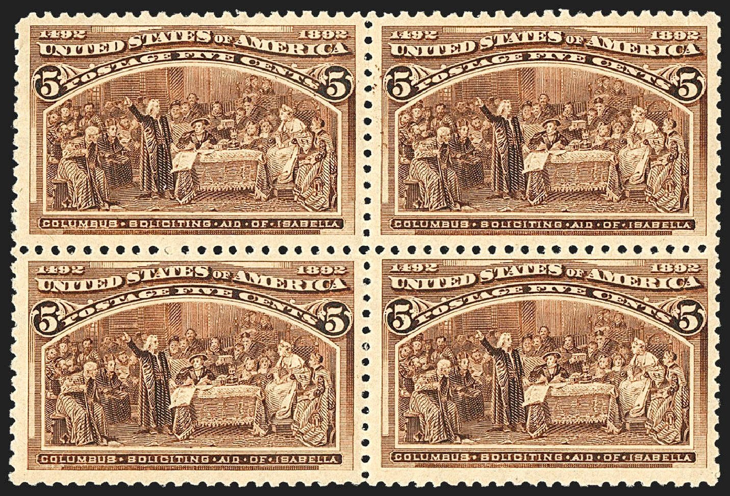 US Stamp Values Scott Catalog #234: 1893 5c Columbian Exposition. Robert Siegel Auction Galleries, Jul 2015, Sale 1107, Lot 311
