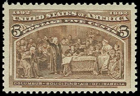 Prices of US Stamps Scott Catalog 234: 1893 5c Columbian Exposition. H.R. Harmer, Jun 2015, Sale 3007, Lot 3244