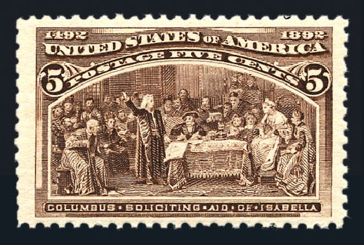 US Stamp Prices Scott Catalog 234 - 5c 1893 Columbian Exposition. Harmer-Schau Auction Galleries, Aug 2015, Sale 106, Lot 1625