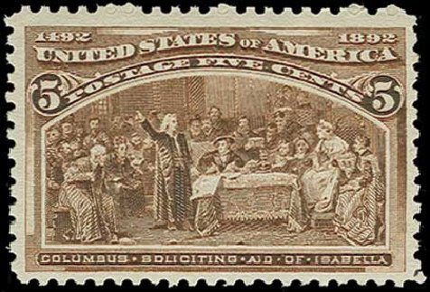 Price of US Stamp Scott Catalog #234: 1893 5c Columbian Exposition. H.R. Harmer, Jun 2015, Sale 3007, Lot 3242